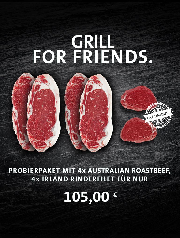 Probierpaket Grill For Friends Riland Rinderfilet Australien Roastbeef Angebot