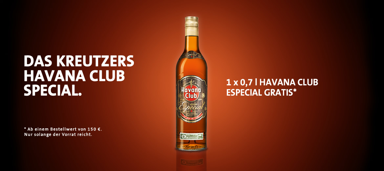 0,7l Havana Club Especial gratis ab 150 Bestellwert
