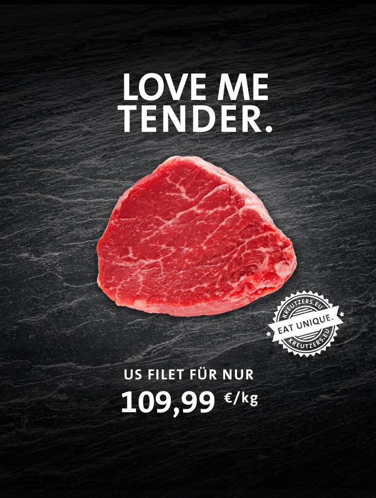 Fleisch US Rinderfilet ohne Kette
