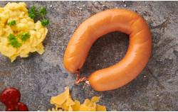 Fleischwurst mit Käse