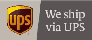 Versand durch UPS
